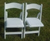 Chairs - White wooden